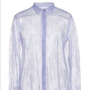 DONDUP Sheer lace button up